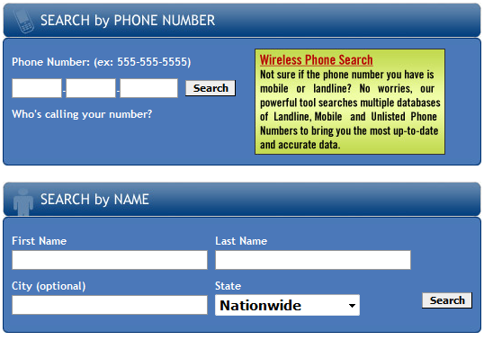 Cell Phone Registry mobile number lookup