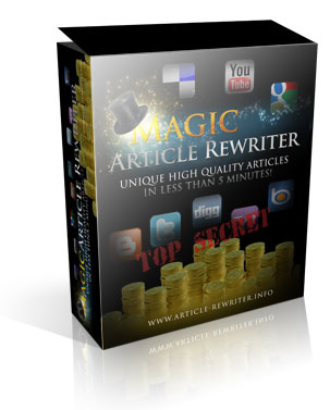Magic Article Rewriter spinning submission software