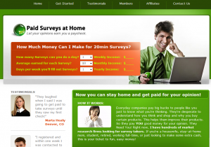 Paid Surveys At Home make money online