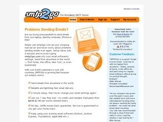 Smtp2go email server