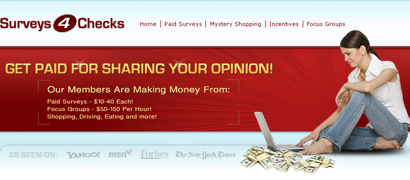 Surveys4Checks make money online